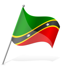 flag of Saint Kitts and Nevis vector illustration