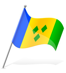 flag of Saint Vincent to Grenada vector illustration