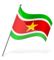 flag of Suriname vector illustration