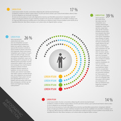 Business Infographics circle Vector illustration. Dot style