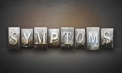 Symptoms Letterpress