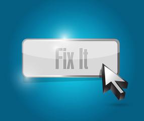 fix it button illustration design