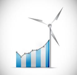 blue business graph illustration design