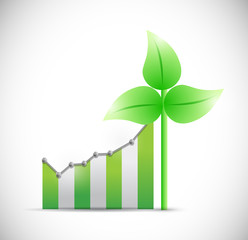 business eco windmill graph illustration design