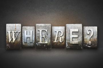 Where? Letterpress