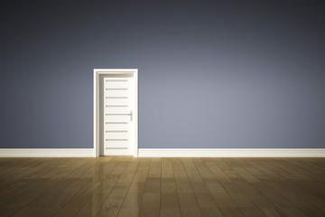 leerer Raum mit Tür