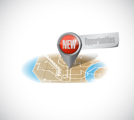 new opportunities map illustration design