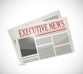 executive newspaper illustration design
