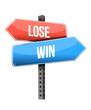 lose and win street sign illustration design