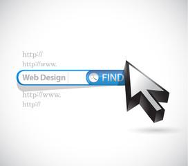 web design search bar illustration design