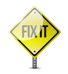 fix it sign illustration design
