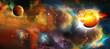 Постер, плакат: Universum Sterne Galaxie