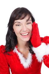 Weihnachtsfrau ruft