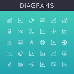 Vector Diagrams Line Icons