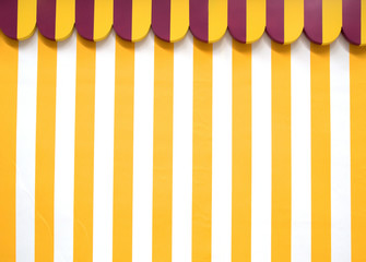 Party tent background pattern, with yellow and white stripes