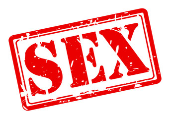Sex red stamp text