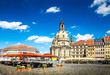 canvas print picture - The ancient city of Dresden, Germany.