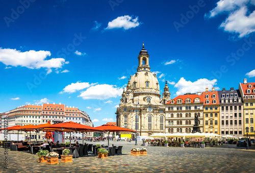 canvas print picture The ancient city of Dresden, Germany.