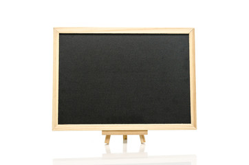 Black board and tripod  white background