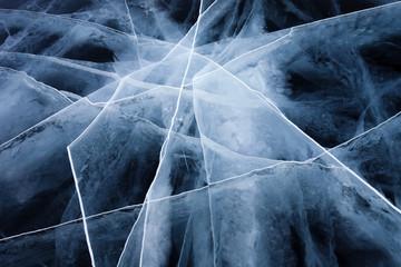 Ice crack on Baikal surface