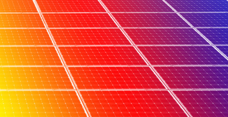 Colorful solar panels background