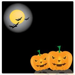Vector, illustration halloween smile pumpkin background