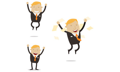 Happy and Free Businessman