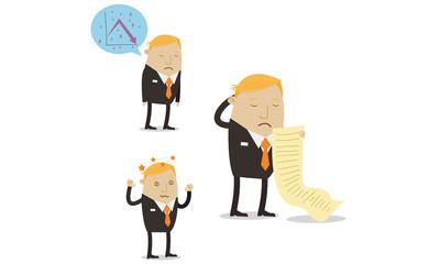 Falling sales businessman