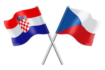 Flags: Croatia and Czech Republic