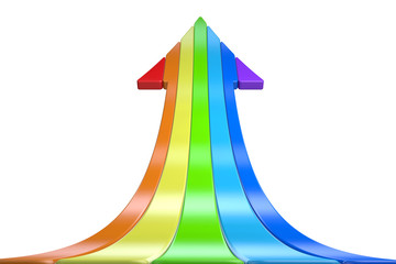 3D color arrow