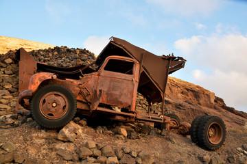 camioneta abandonada