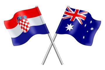 Flags: Croatia and Australia