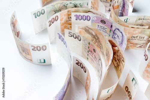 canvas print picture czech money, czech krown, ceska koruna