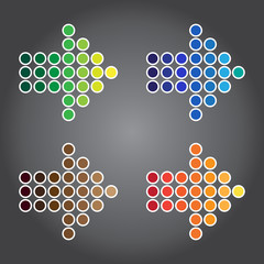 Vector Illustration, Colorful Arrow Symbol for Design Work