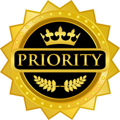 Priority Gold Badge