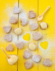 Herz Kekse mit Lemon Curd