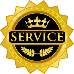 Service Gold Badge