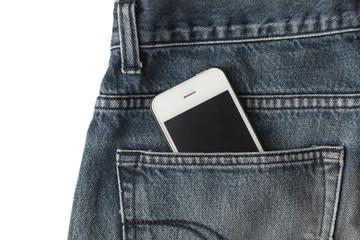 Smart phone in jean