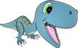 Happy Dinosaur T-Rex Vector Illustration Art - 70210672