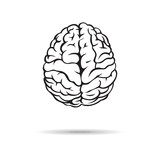 Brain icon. On the white background. Vector illustration. - 70210842