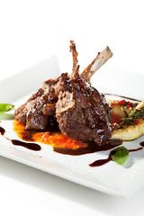 Lamb Chops and Vegetables