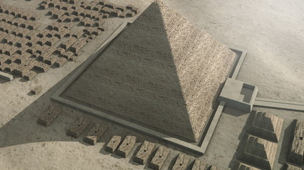 Zoom out from Giza Egypt to the universe
