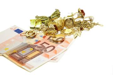 Goldschmuck Tausch gegen Geld