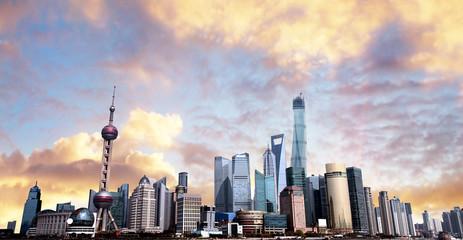Shanghai skyline.