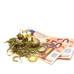 Goldschmuck und Geld