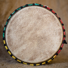 Djembe top view