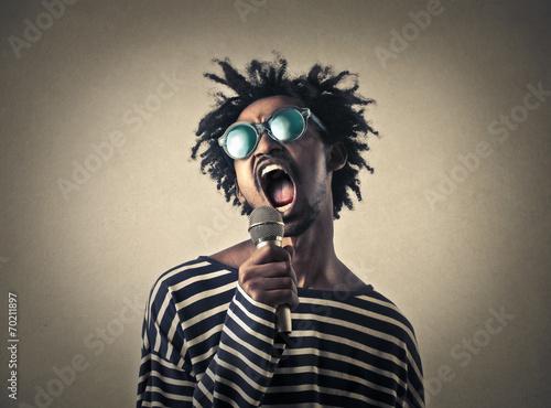 Leinwanddruck Bild A great singer