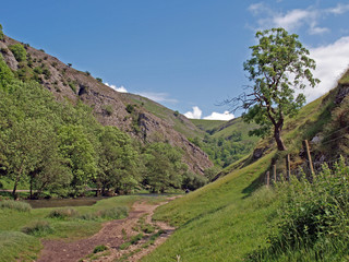 Dovedale in Derbyshire.