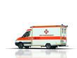 Rettungswagen auf weissem Hintergrund