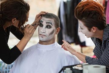 Cirque Clowns Backstage Makeup